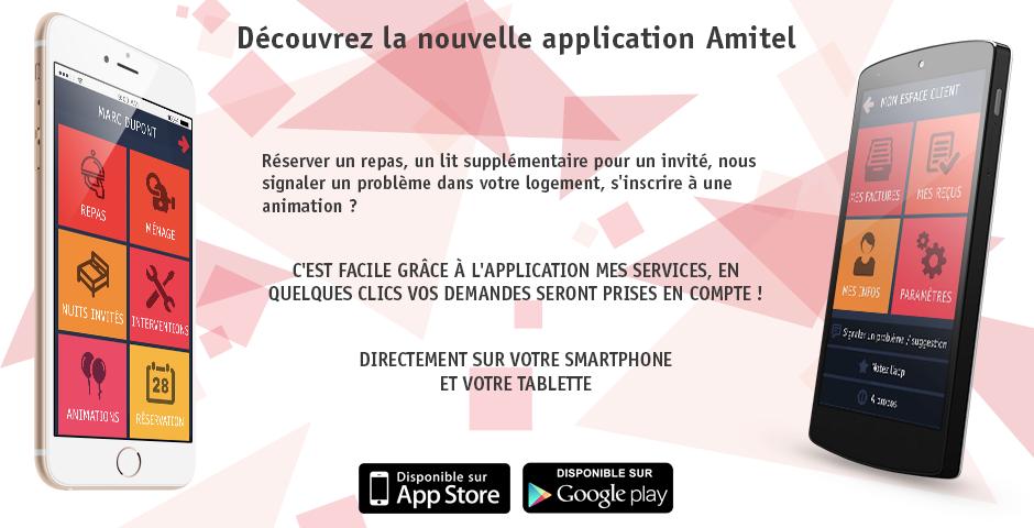 Appli Mes services Amitel